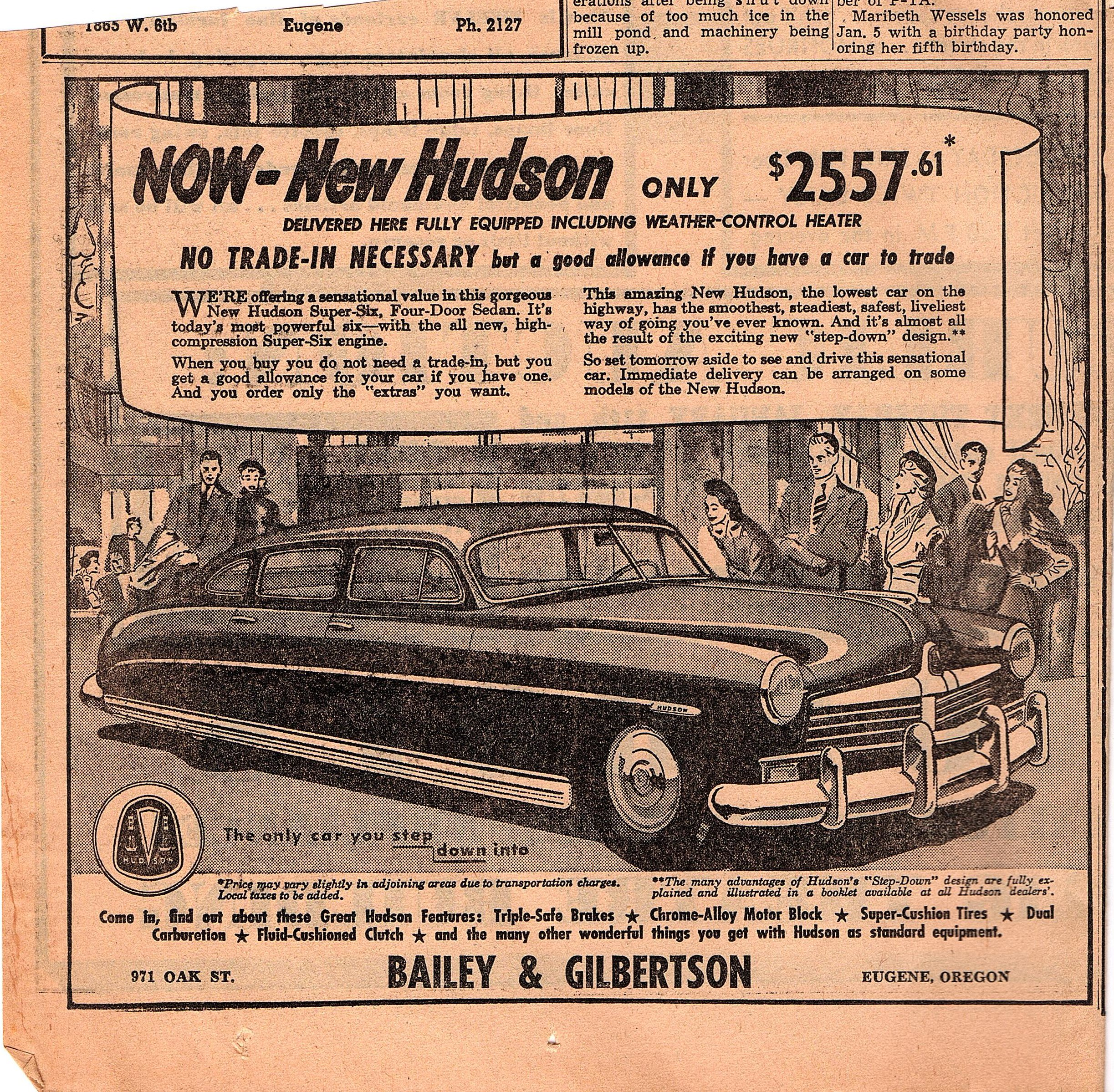 New Hudson 1949 for sale
