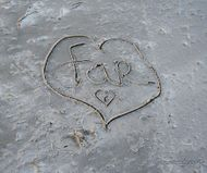 Loveletters in the sand